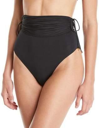 Stella McCartney High-Waist Drawstring Bikini Swim Bottoms