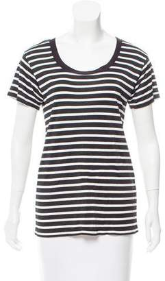 The Kooples Sport Striped Short Sleeve Top