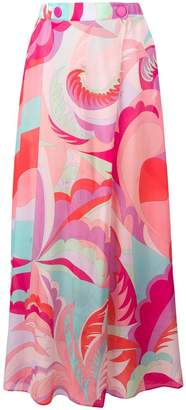 Emilio Pucci abstract print maxi skirt