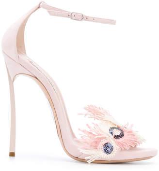 Casadei Blade feather-embellished sandals