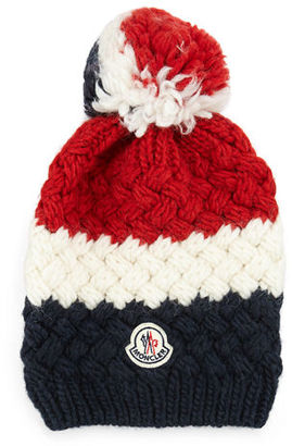 Moncler Cashmere Chunky-Knit Pom-Pom Hat $160 thestylecure.com