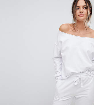Asos Tall TALL LOUNGE Raw Edge Off Shoulder Sweat