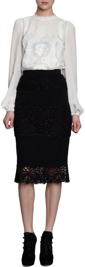 Dolce & Gabbana Lace Panel Skirt