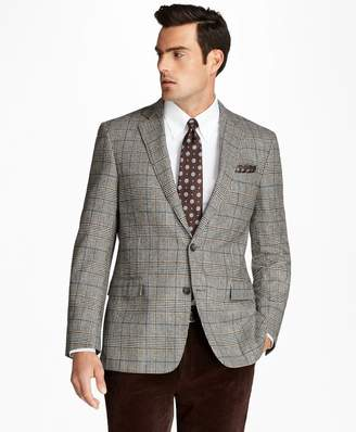 Brooks Brothers Regent Fit Black and White Plaid with Deco Sport Coat