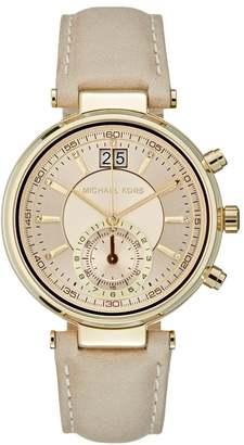 Michael Kors SAWYER Chronograph watch puder