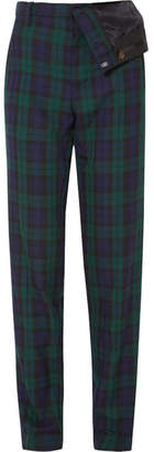 Y/Project Asymmetric Plaid Twill Straight-leg Pants