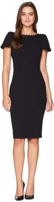 Calvin Klein Short Sleeve Dress with Lace Trim Detail CD8C17PF Women's Dress