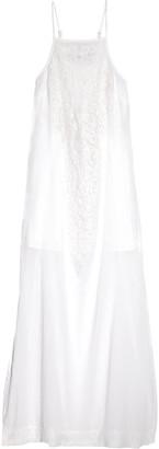 Vix Teca lace-paneled cotton-voile maxi dress $236 thestylecure.com