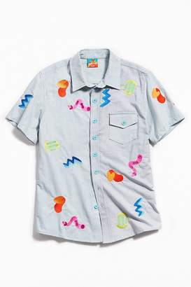 Mokuyobi Embroidered Form Short Sleeve Button-Down Shirt