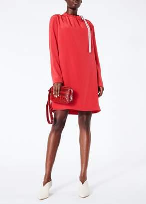 Tibi Silk Color Block Shift Dress