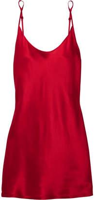 La Perla Carmine Silk-satin Chemise - Red