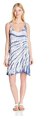 Lucky Brand Women's Fireworks Tie-Dye Cover-Up Dress $78 thestylecure.com