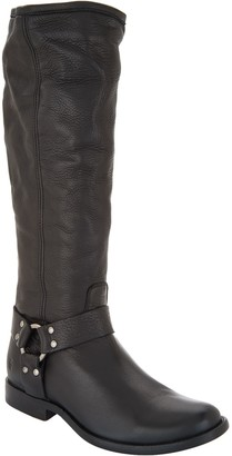 Frye Medium Calf Leather Tall Shaft Boots - Phillip Harness