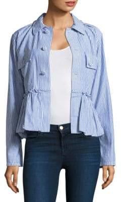 Harvey Faircloth Striped Bubble Cotton Jacket