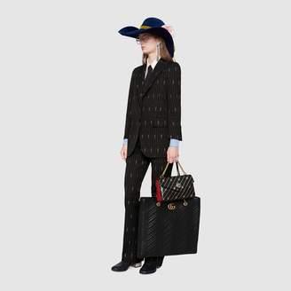 Gucci stripe fil coupé wool jacket