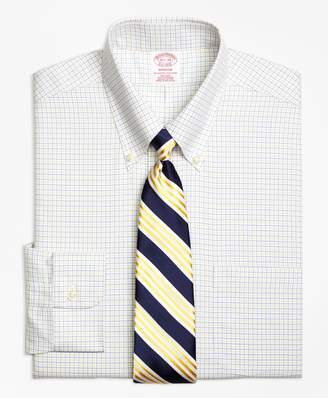 Brooks Brothers Madison Classic-Fit Dress Shirt, Non-Iron Two-Color Tattersall