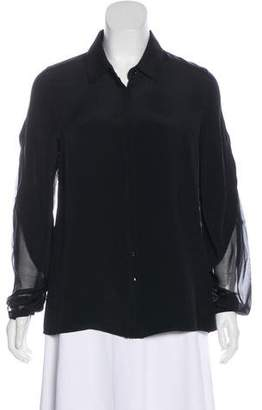 Maiyet Silk Button-Up Top