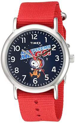 Timex Weekender 38mm Peanuts NASA Analog Quartz Nylon Strap
