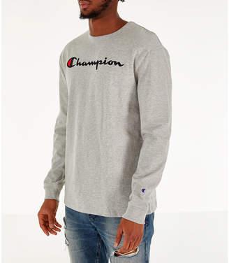 5ee66531 Champion Men's Heritage Logo Long Sleeve T-Shirt