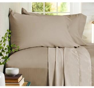 Auraa Comfort 500 TC Reversible 100% Cotton 4PC Cal King Sheet Set