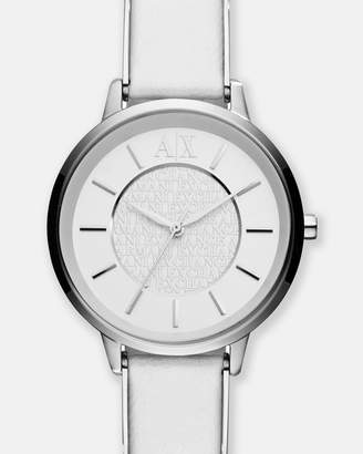 Armani Exchange White Analogue Watch
