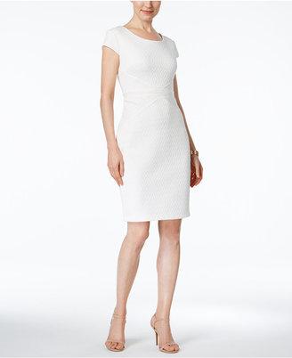 Sangria Cap-Sleeve Textured Sheath Dress $79 thestylecure.com