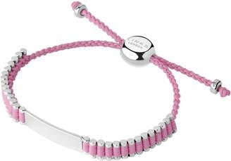 Links of London Sterling Silver & Pink Cord Baby Friendship ID Bracelet