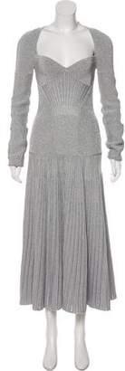 Alexander McQueen Metallic Knit Gown w/ Tags