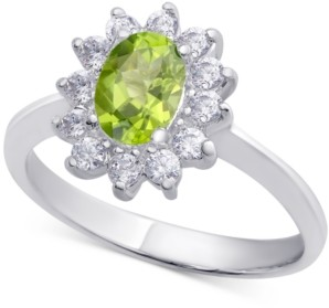Macy's Blue Topaz (1 ct. t.w.) & Cubic Zirconia Ring in Sterling Silver (Also Available in Sapphire & Peridot)