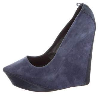 Theyskens' Theory Platform Suede Wedges