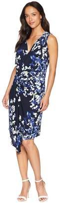 Ellen Tracy Twisted Front Sleeveless Dress Women's Dress