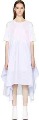 MM6 Maison Martin Margiela White Jersey Combo Dress