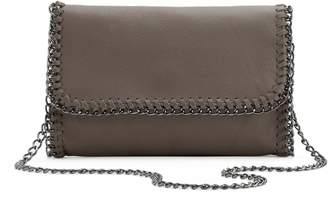 R&R Leather Whip-Stitch Leather Crossbody Bag