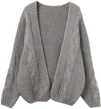 Goodnight Macaroon 'Zahara' Cable Knit Open Cardigan (3 Colors)