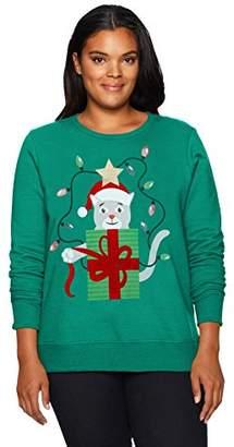Just My Size Women's Plus Size Ugly Christmas Sweatshirt