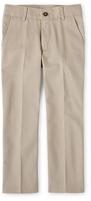 Izod EXCLUSIVE Boys Adjustable Waist Flat Front Pants Big Kid