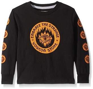 Volcom (ヴォルコム) - [ボルコム] [ キッズ ] 長袖 プリント Tシャツ (ベーシックフィット) [ Y3641831 / Hot Visions LS T Kids ] かわいい 子供服 BLK_ブラック US 7 (日本サイズ140 相当)