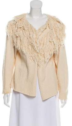 Ulla Johnson Frayed-Accented Textured Cardigan