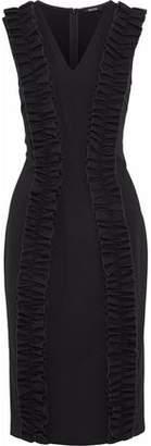 Raoul Ruffled Cotton-Blend Ponte Dress