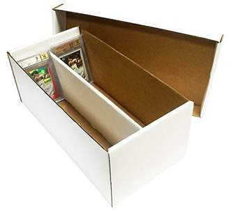 Graded Shoe 2-Row Cardboard Storage Box - Baseball, Football, Basketball, Hockey, Nascar, Sportscards, Gaming & Trading Cards Collecting Supplies by MAX PRO - GSB by Max Protection