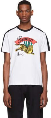 Kenzo White Bamboo Tiger T-Shirt