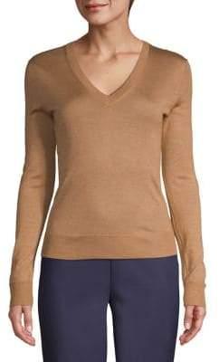 Theory Ribbed V-Neck Sweater