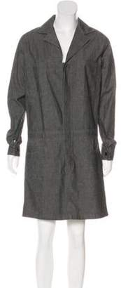 6397 Collared Button-Up Dress Grey Collared Button-Up Dress