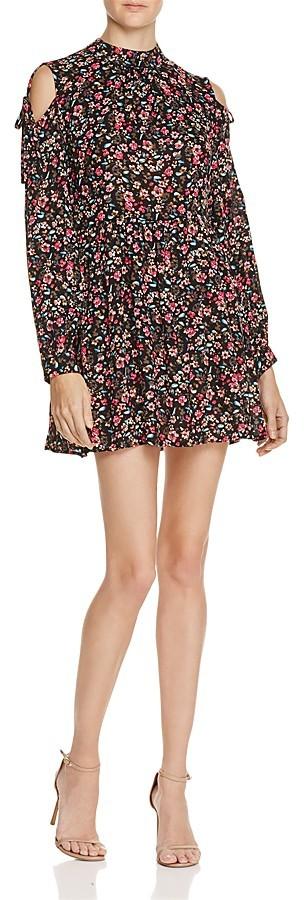 En Créme Floral Cold Shoulder Mini Dress - 100% Exclusive