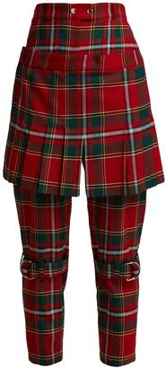 Burberry Tartan wool-blend kilt trousers