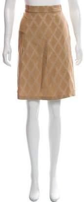 Bottega Veneta Silk-Blend Knee-Length Skirt