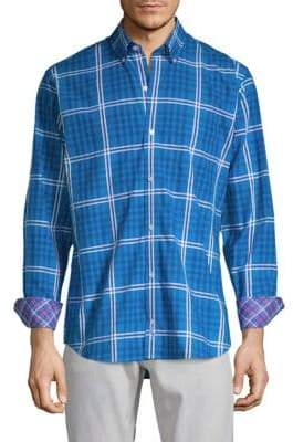 Tailorbyrd Garen Plaid Button-Down Shirt