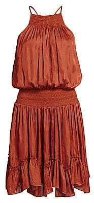 Halston Women's Gathered Smocked Dress