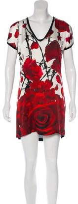 Philipp Plein Printed Mini Dress