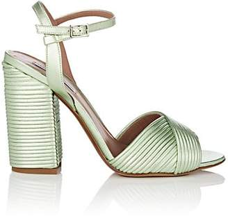 Tabitha Simmons Women's Kali Pleated Leather Sandals - Lt. Green